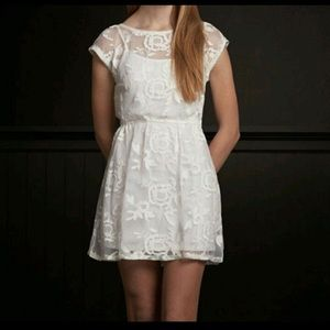 Hollister Lace Overlay Dress
